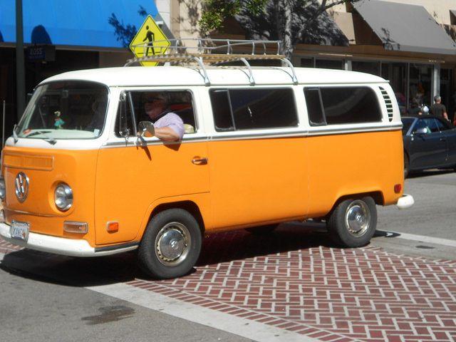 VW T2. White & orange/yellow, great colour!!!