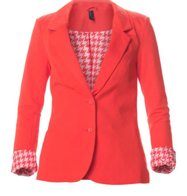 Coral colored coat