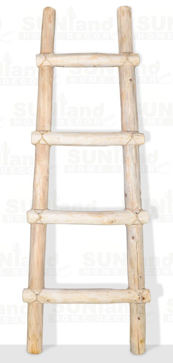 4ft Decorative Rustic Wooden Kiva Log Blanket Ladder Wooden Ladder Decor Blanket Ladder Ladder Decor