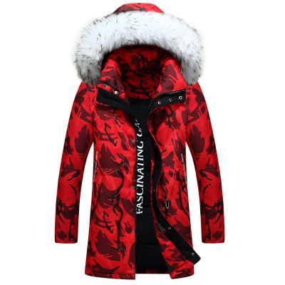 SZAWSL Herren Winter Outdoor Daunenjacke Mantel Style Down