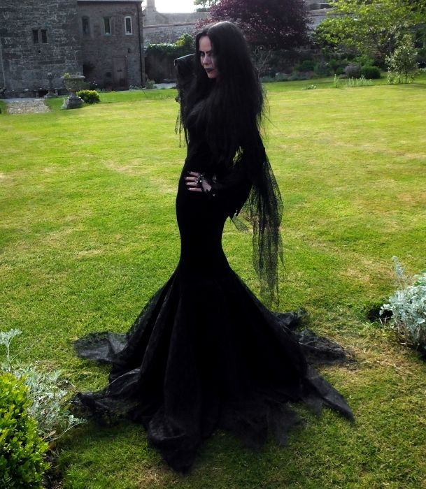 Morticia Addams Gown From Moonmaiden Gothic Clothing