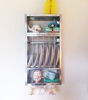 Mmmmmmm cute mini plate rack! & Mmmmmmm cute mini plate rack! | Above garage | Pinterest | Plate ...