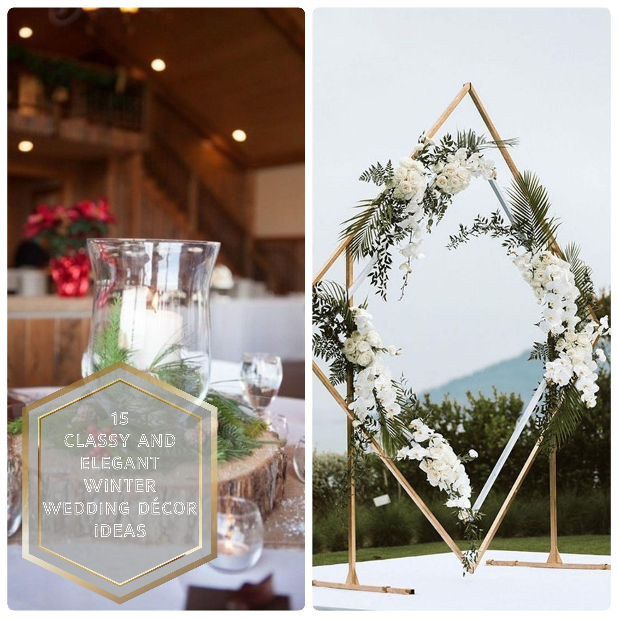 Winter Wedding Decor Ideas #weddingdecoration