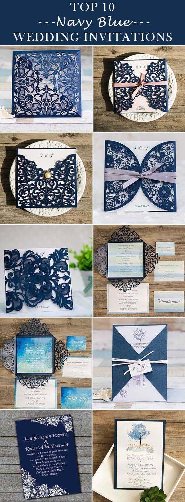 Top 10 trending navy blue wedding invitations for 2016 brides rsvp classic navy blue wedding invitations 2016 trends elegantweddinginvites free rsvp cards free shipping stopboris Image collections