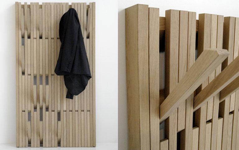 Flexible garderobe aus eiche eiche garderoben und flure for Flur garderoben paneele