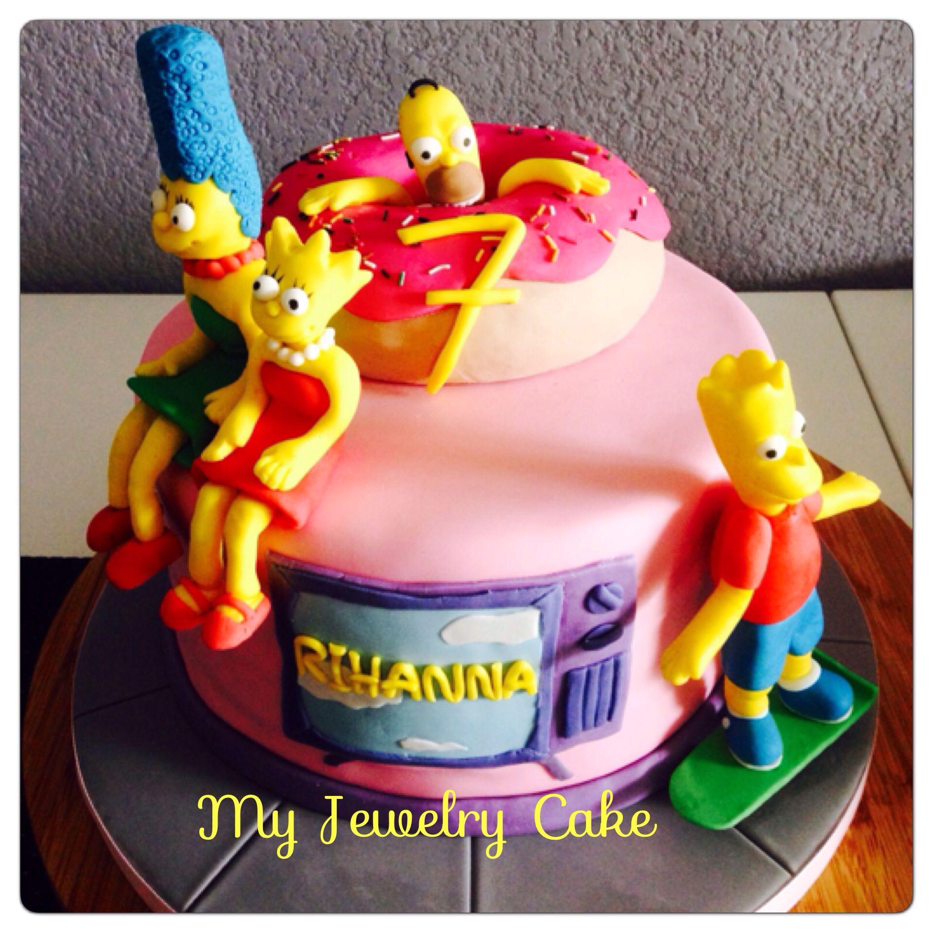 Gateau simpson cake design gateau d anniversaire - Simpson anniversaire ...