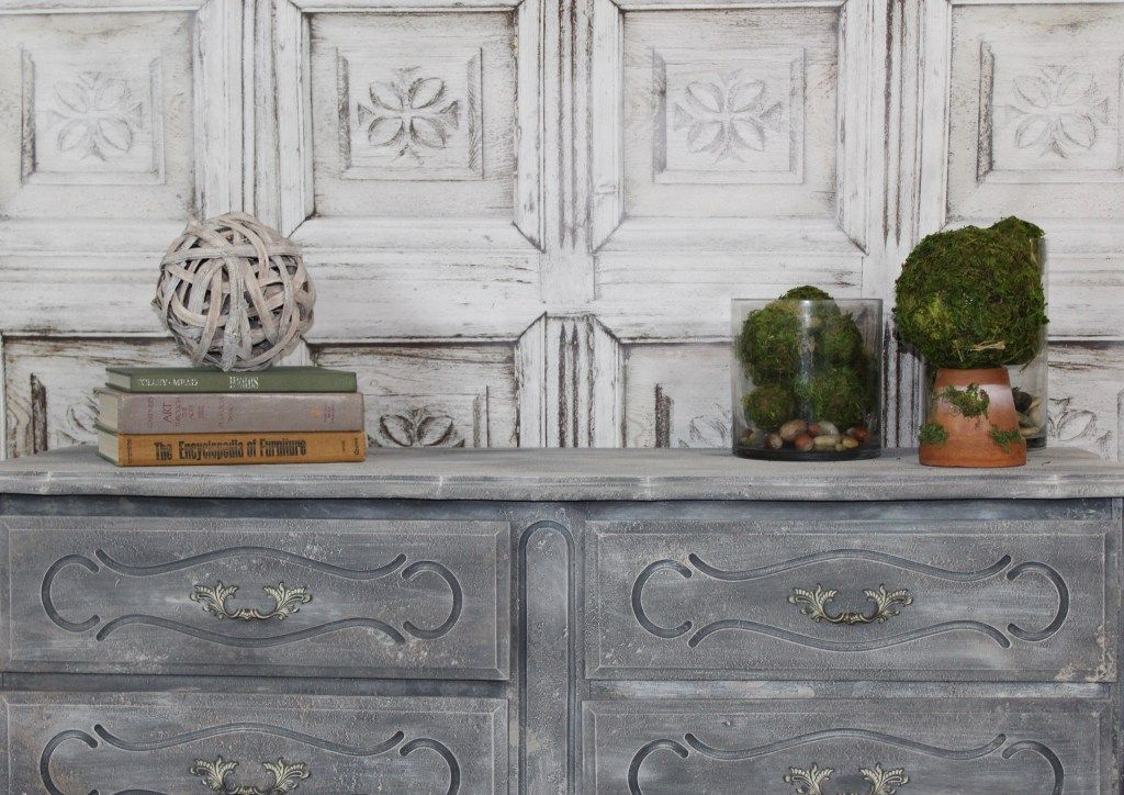 The formula for creating textured layered finishes on painted furniture - using Crust and Paint Couture - Hey There Delyla!