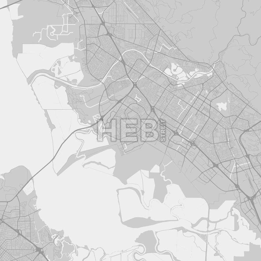 Newark California Area Map Grey Ui ux