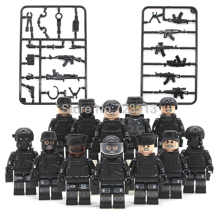 12Pcs//Set Lego Military Series WW2 China VS Japan Soldiers With Weapon