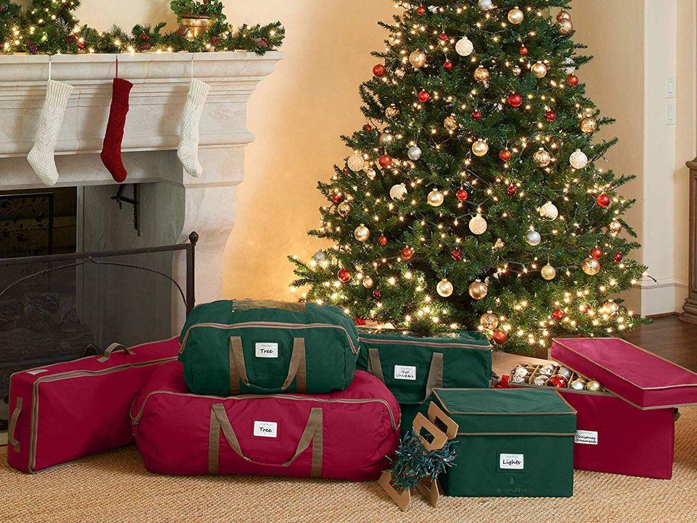 The 6 Best Christmas Tree Bags Of 2020 Christmas Tree Storage Bag Christmas Decoration Storage Elegant Christmas Trees