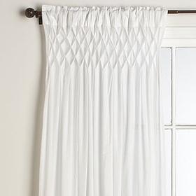 White Smocked Top Cotton Curtain World Market White Curtains World Market Curtains White Paneling