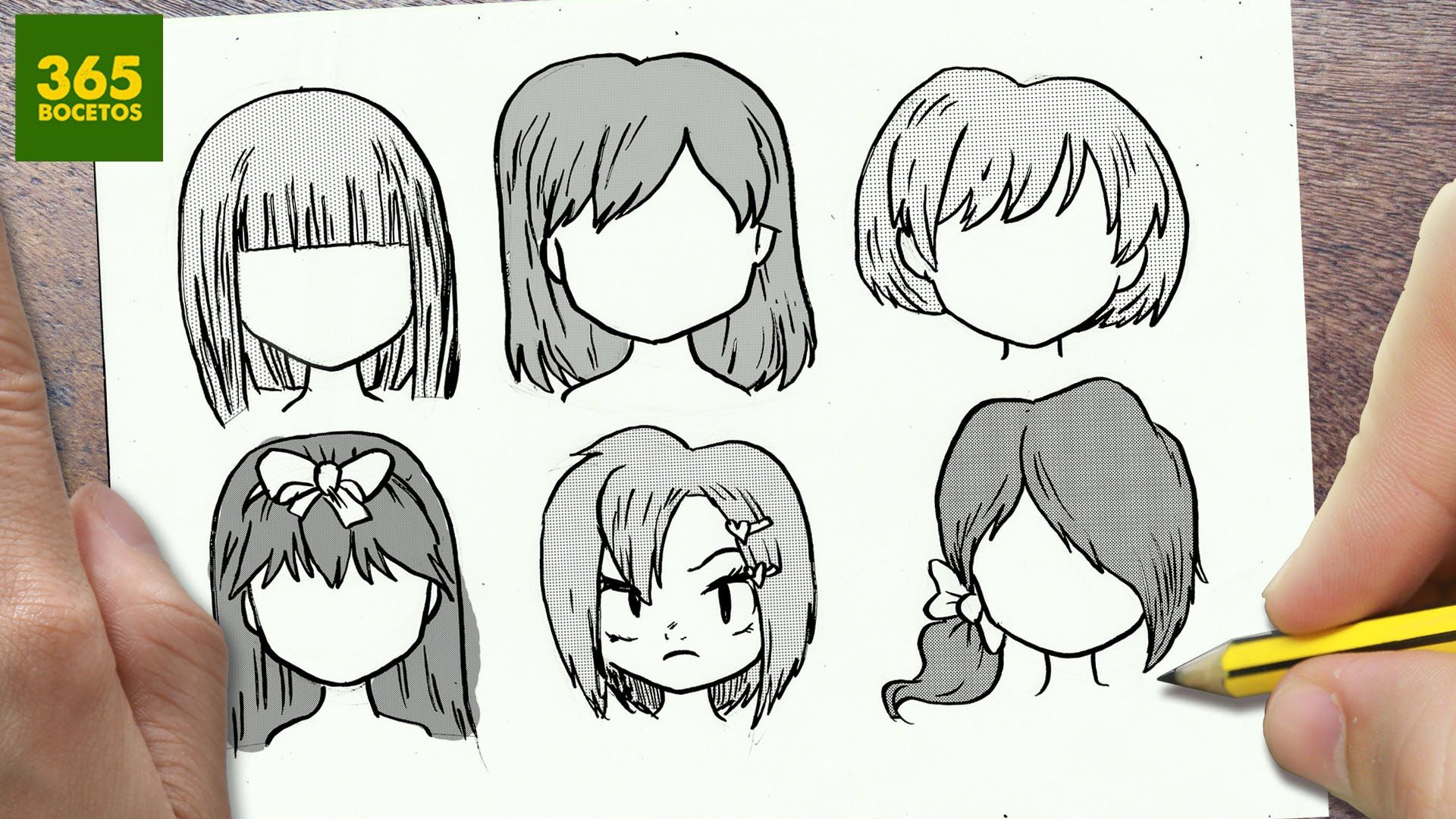 COMO DIBUJAR CABELLO ANIME   COMO DIBUJAR CABELLO MANGA - How to draw hair d93e8c700380