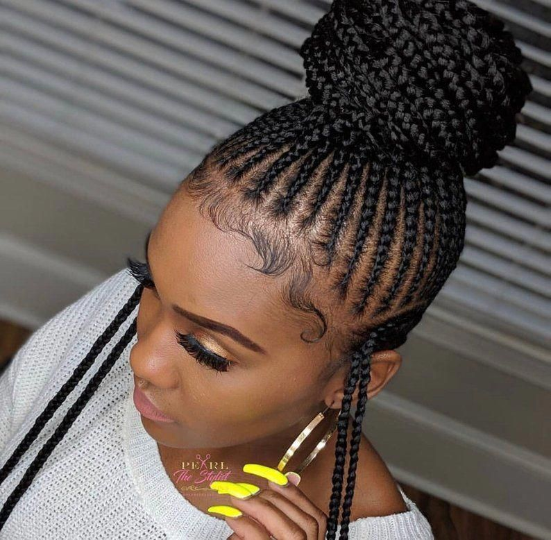 add some texture to your prom hairstyle with mixed braids! this client paired curls with a waterfall braid, three strand braid + braided rose #waterfallBraided # fulani Braids prom # fulani Braids prom