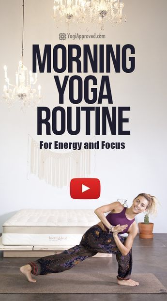 Practice This Morning Yoga Routine For Energy and Focus (Free Class) - Yoga fitness - #Class #Energy...