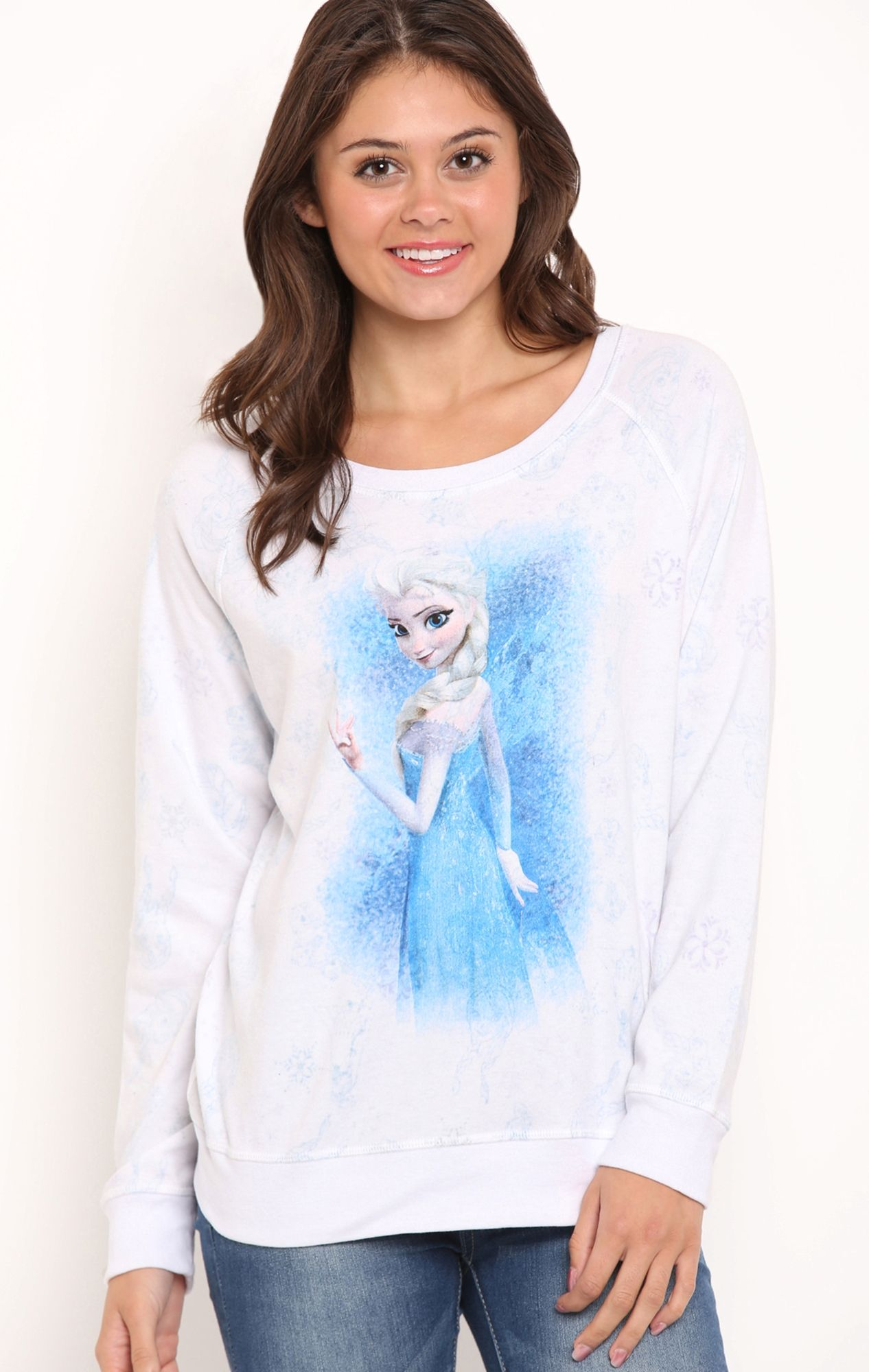 Deb Shops Long Sleeve Reversible Interlock Shirt With Frozen Elsa Allover Screen 19 50 Clothes Fashion Deb Shops [ 2000 x 1266 Pixel ]