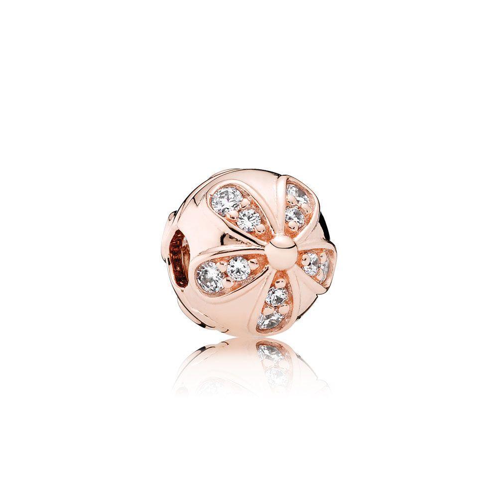 Dazzling daisies clip pandora rose u clear cz pandora jewelry