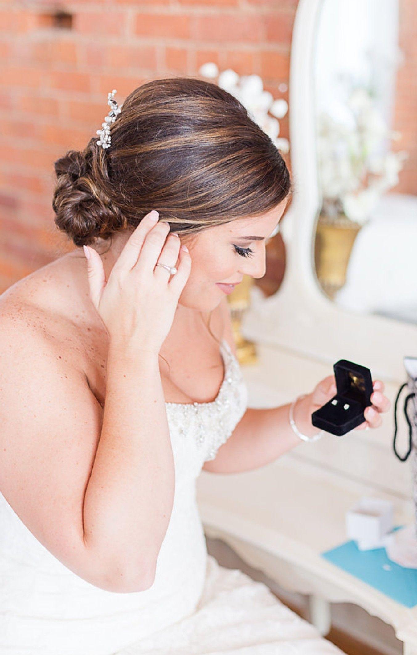 Bridal portraits | getting ready photos | wedding day details | wedding hairstyles | glam ...