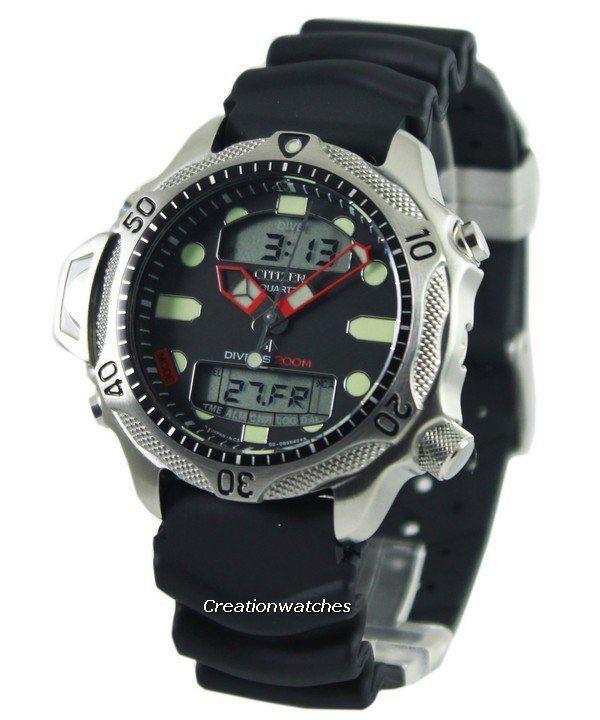 Citizen aqualand diver depth meter promaster jp1010 00e jp1010 men 39 s watch watch pinterest - Citizen promaster dive watch ...