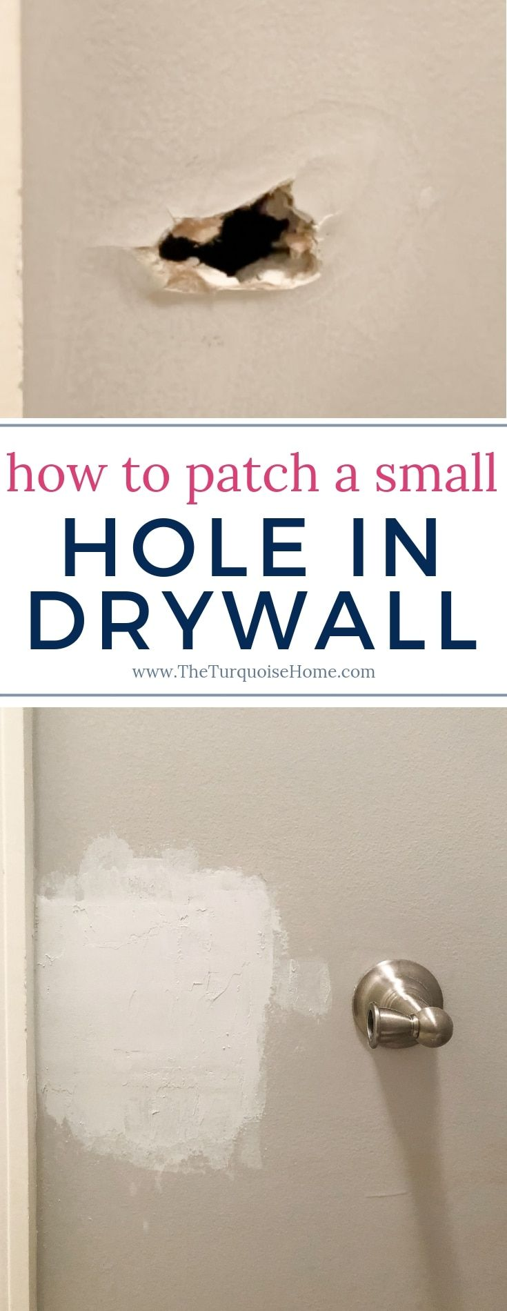 How to Patch a Small Hole in Drywall  Drywall repair, Home repair