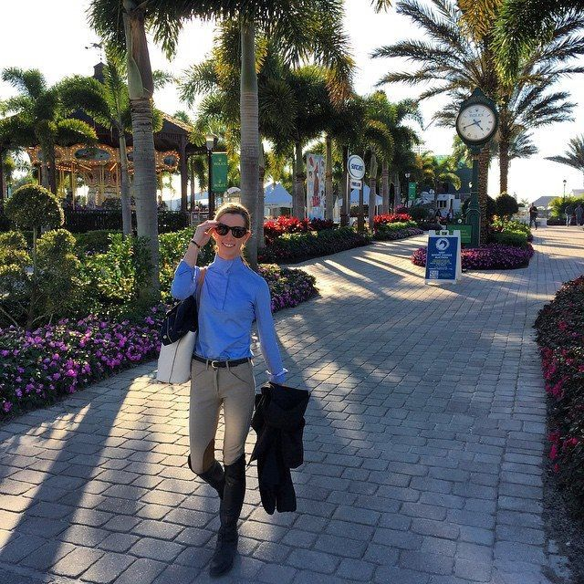 Leaving WEF 2015 after a long day of horseshowing