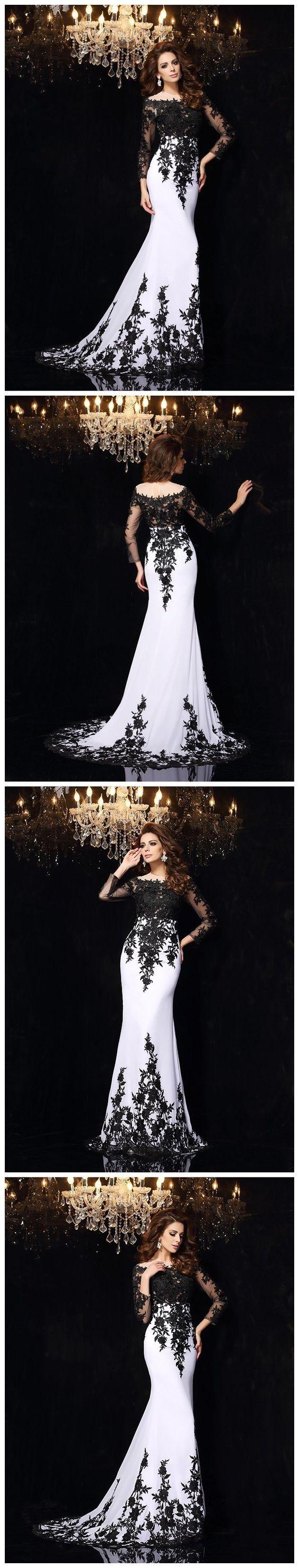 trumpetmermaid prom dresses long black scoop prom dress