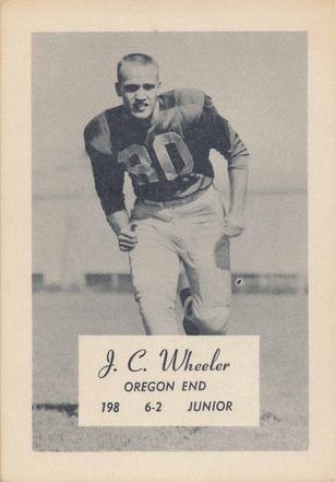 1956 Oregon Junior End J C Wheeler Www Sportingoregon Com Sophomore Junior Baseball Cards