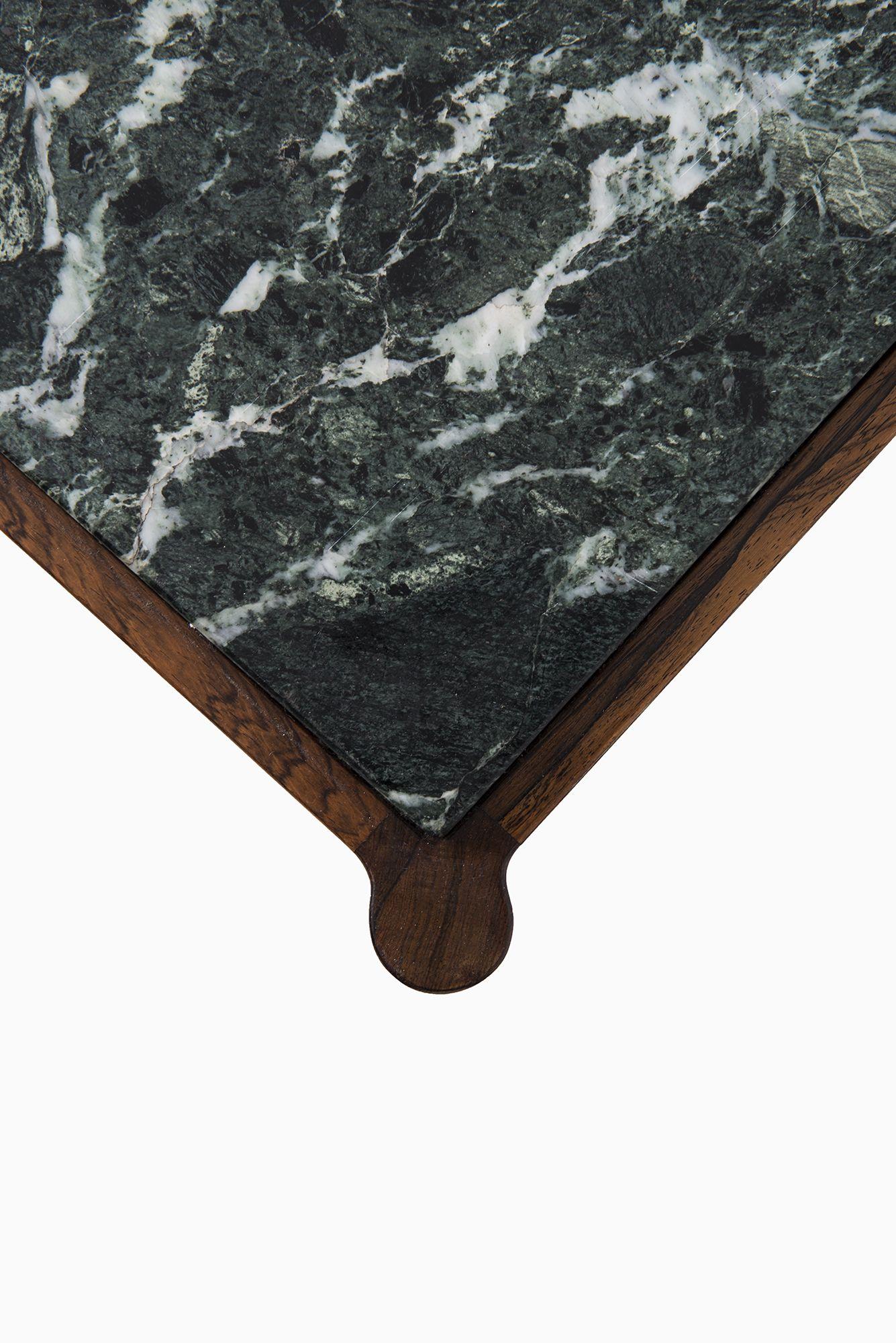 Ib Kofod-Larsen coffee table in rosewood & marble at Studio Schalling