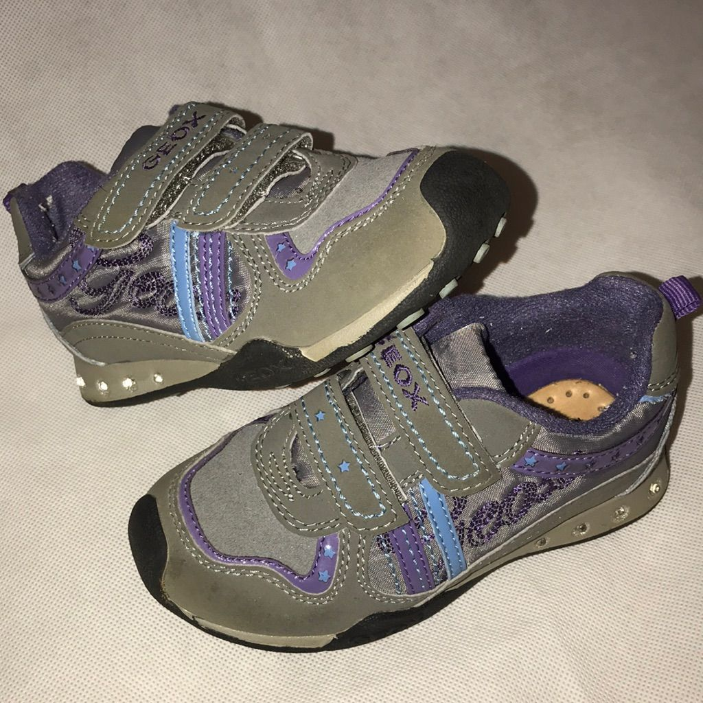 b7b5630e67 Geox Shoes | Geox Light Up Athletic Shoes 9m Gray Purple | Color: Gray/Purple  | Size: 9g