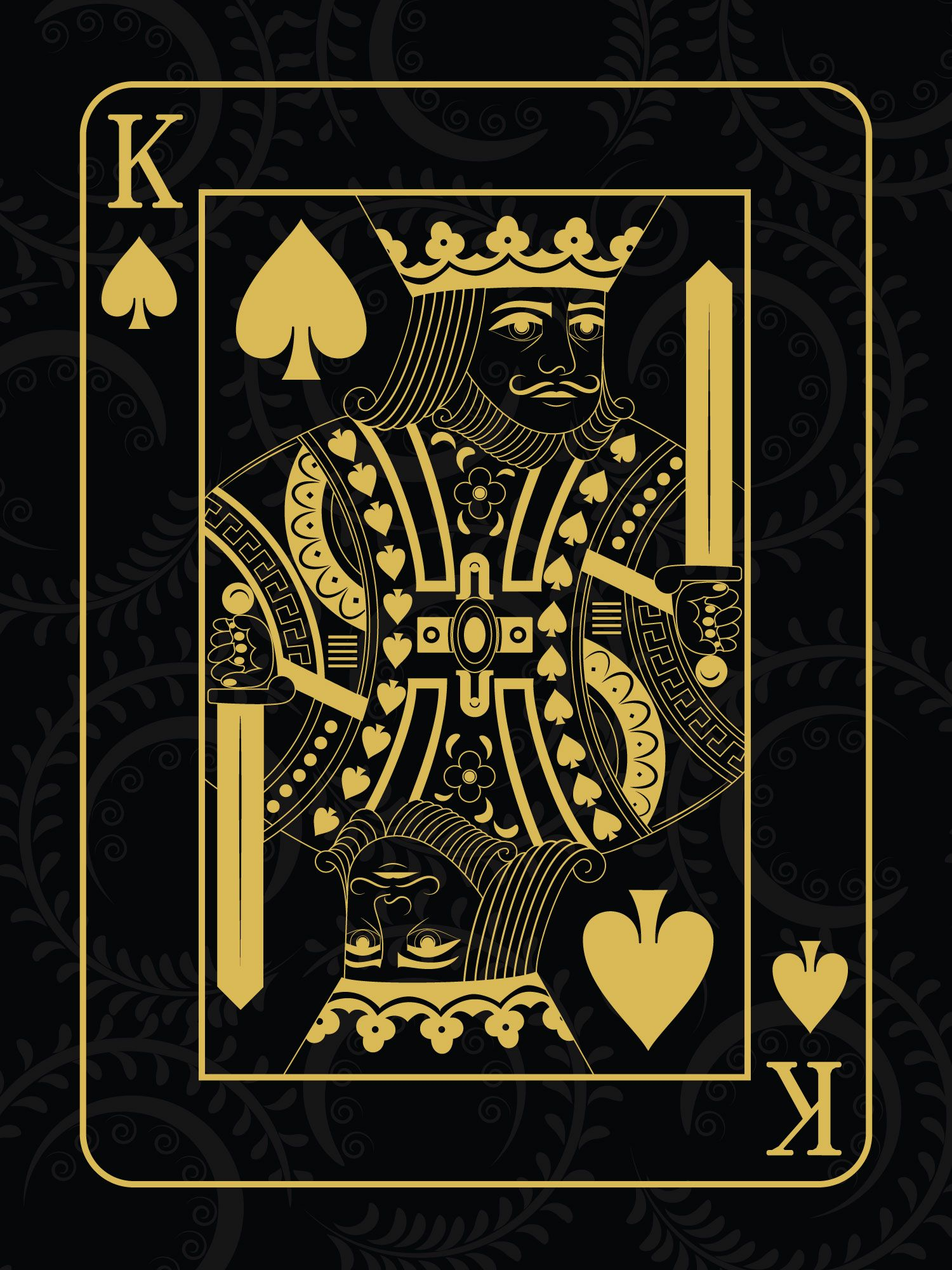 King Of Spades Poster Painting Tenorarts King Of Spades King Card Playing Cards Design