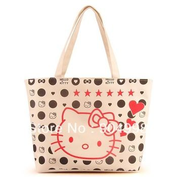 New Arrival Hello Kitty Canvas bag shoulder bag Free Shipping ... ee98226ecfd07