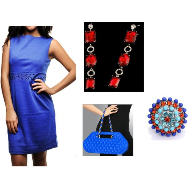 """""""Red, White, Blue ( Independent Girl)"""" Pledge allegiance to this chic independence day inspired look.   Shop look now>http://www.ladiesfashionsense.com/catalog/item/6882824/9074110.htm"""
