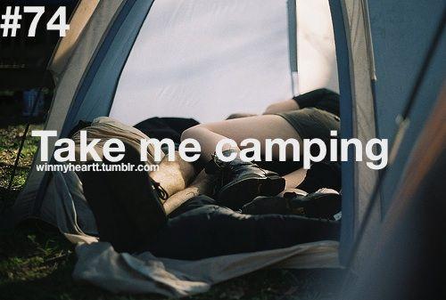 Você me leva para acampar