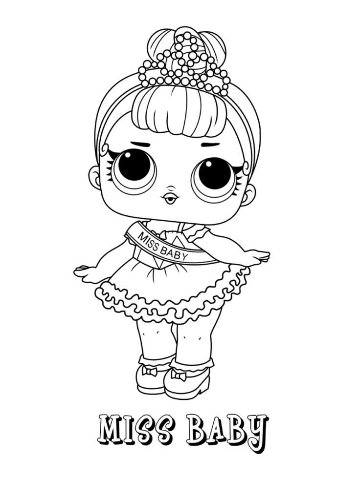LOL Surprise dolls coloring page Series 1 Miss Baby
