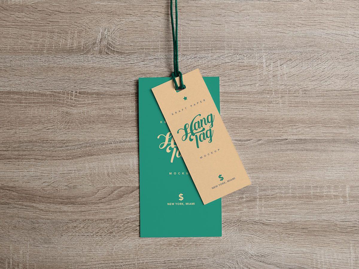 Free Dual Cloth Hanging Tag Mockup Psd Hang Tag Design Mockup Free Psd Free Mockup