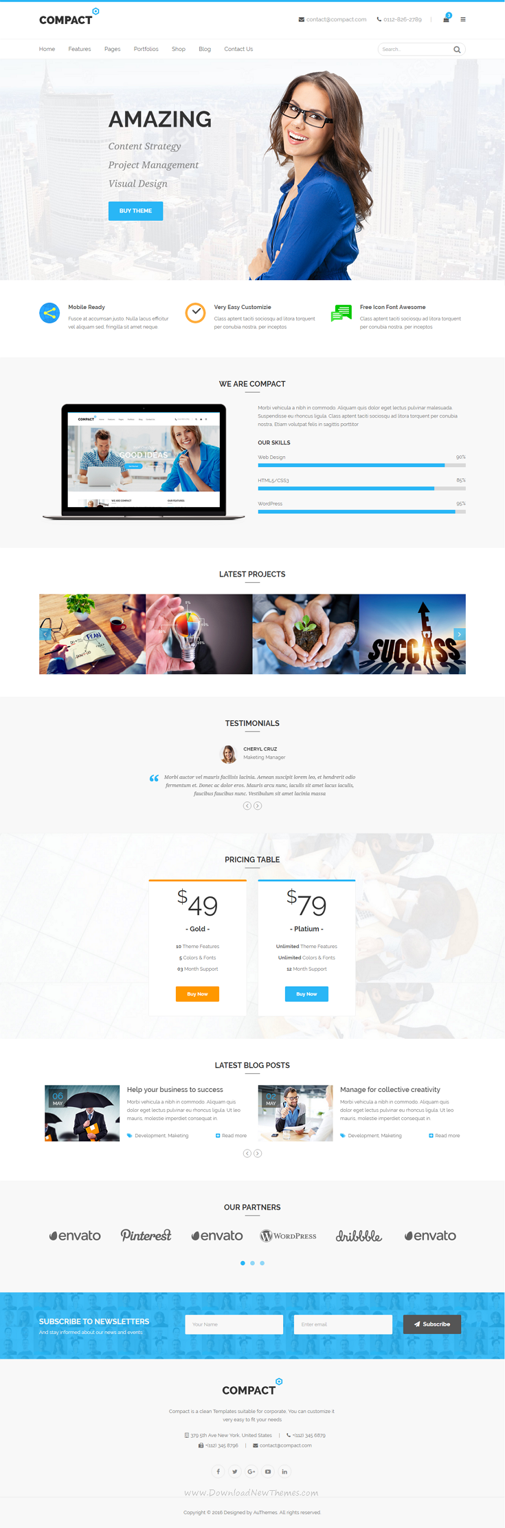 Compact - Corporate Multi-Purpose HTML Template | Compact and Template