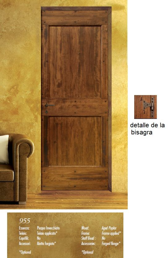Made of wood puertas rusticas serie antiqva casas de for Puertas de madera para casas de campo