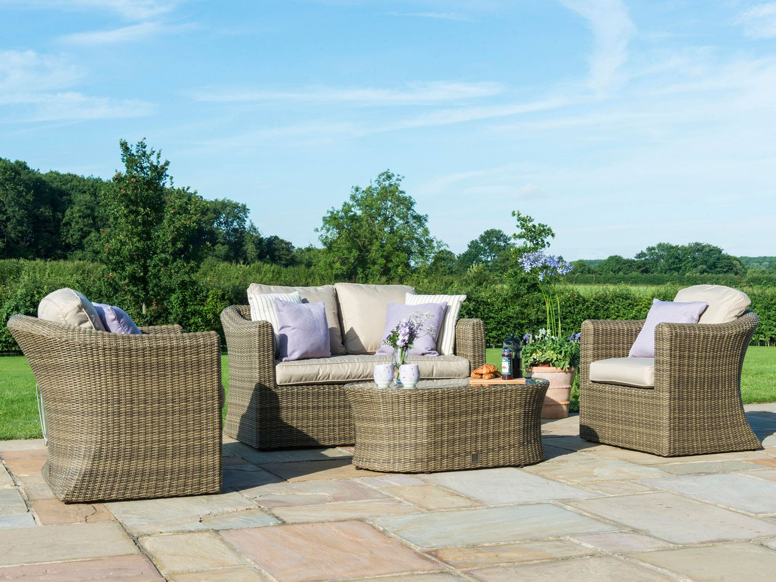 Garden Sofa Two Seater Relax And Enjoy The Outdoors With This All Weather Rattan Garden