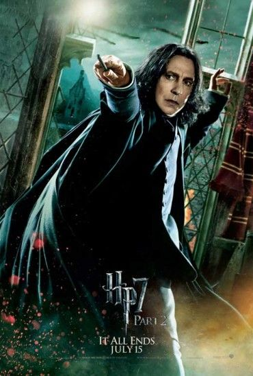 11x17 Inch Harry Potter And The Deathly Hallows Part 2 Movie Poster Features Severus Snape With Wand Raise Cartaz Harry Potter Severus Snape Harry Potter Filme