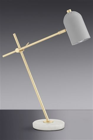 Buy marble and brass task table lamp from the next uk online shop