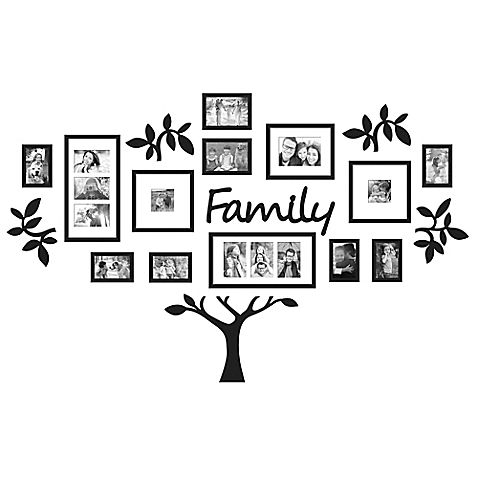 Wallverbs 19 Piece Family Tree Set In Black Family Tree Collage Family Tree Photo Family Tree Photo Frame
