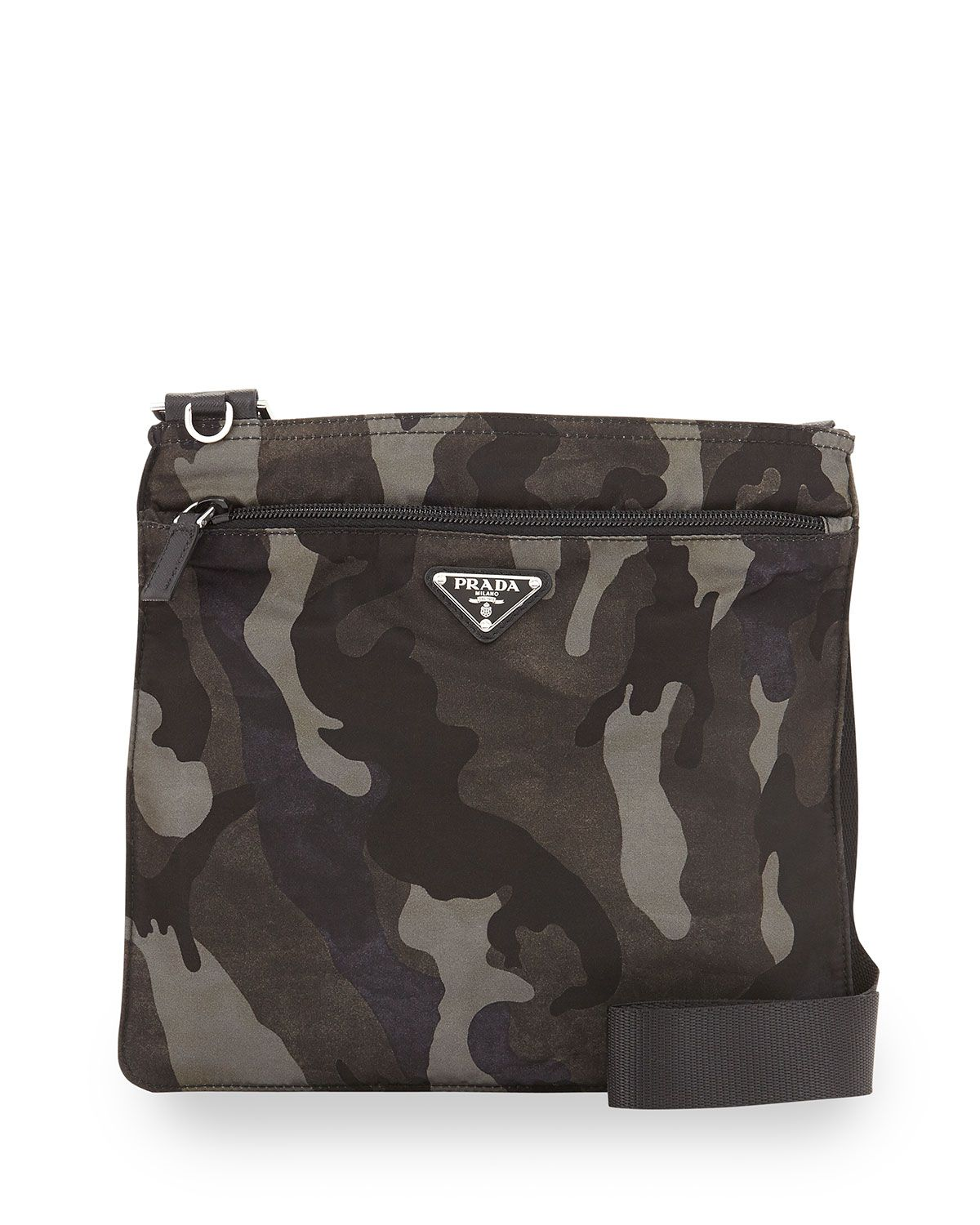 7277ae970df8 Prada Tessuto Camo-Print Crossbody Bag, Gray Multi (Fumo ...