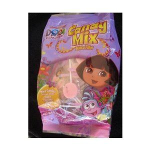 "Nickelodeon's ""Dora The Explorer"" Candy Mix/Pinata Filler by Frankford Candy. $12.99. - Ideal for party bags or pinatas. - Authentic Nickelodeon product. - Net Weight 14oz (397g). Nickelodeon's Dora The Explorer Candy Mix/Pinata Filler. Assortment includes : Gummies, Fruit Chews, Lollipops and Candy Characters, all featuring Dora by herself or Dora and Boots, on each individual wrapper. Net weight 14oz / 397g."