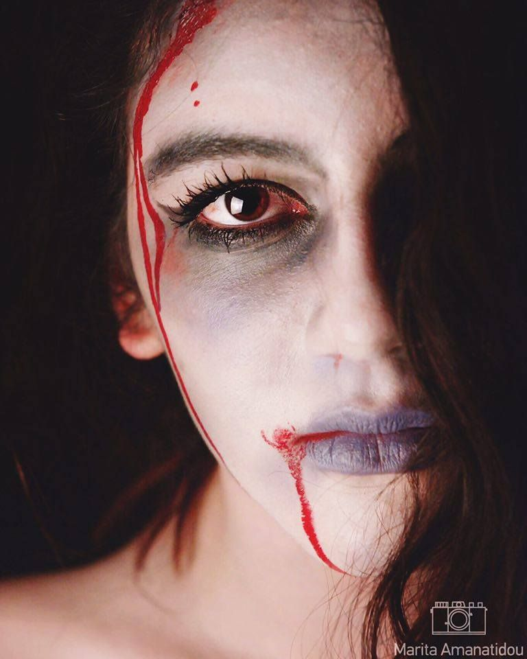 Marita Amanatidou Photography  #portrait #vampire #zombie #photography #teenager #eyes #dark #fashion