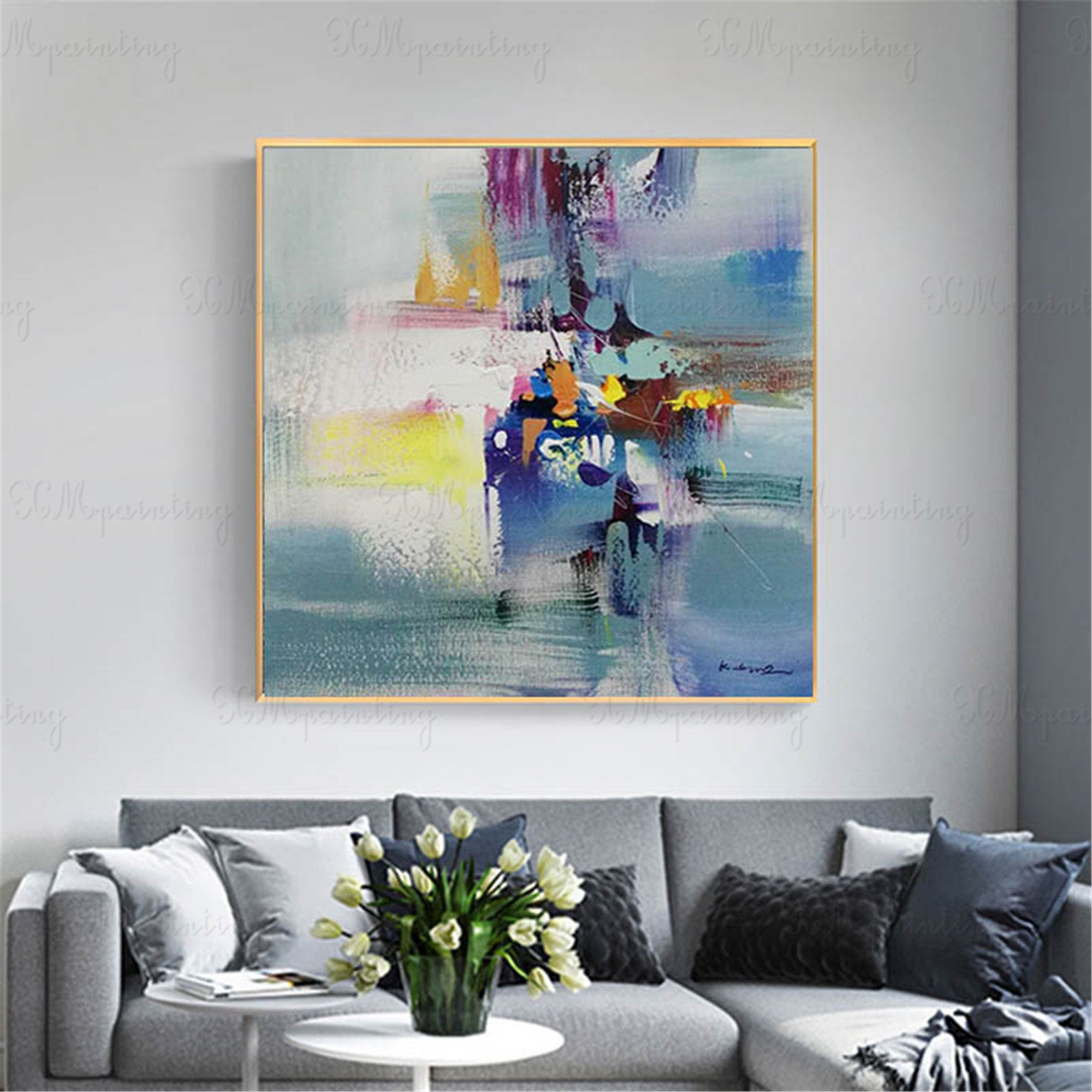 Abstract Painting Canvas Art Wall Art Pictures For Living Room Etsy Canvas Art Painting Abstract Canvas Painting Wall Painting #wall #art #painting #for #living #room