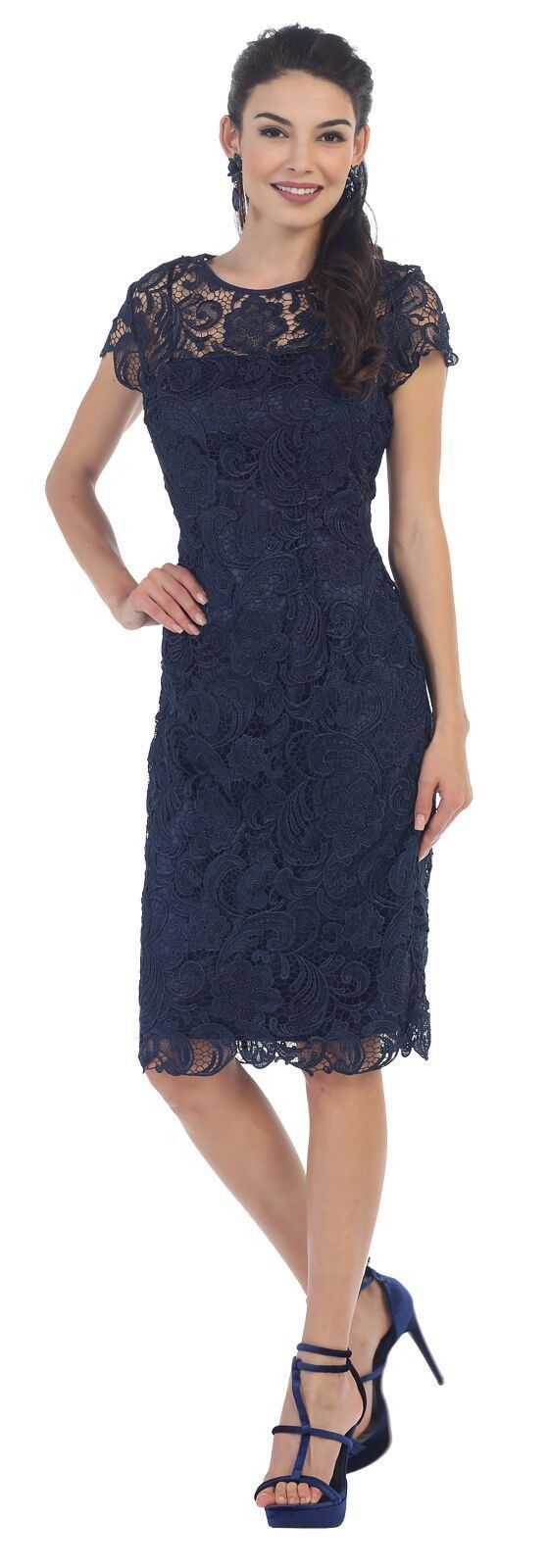 Short plus size mother of the bride dress in full