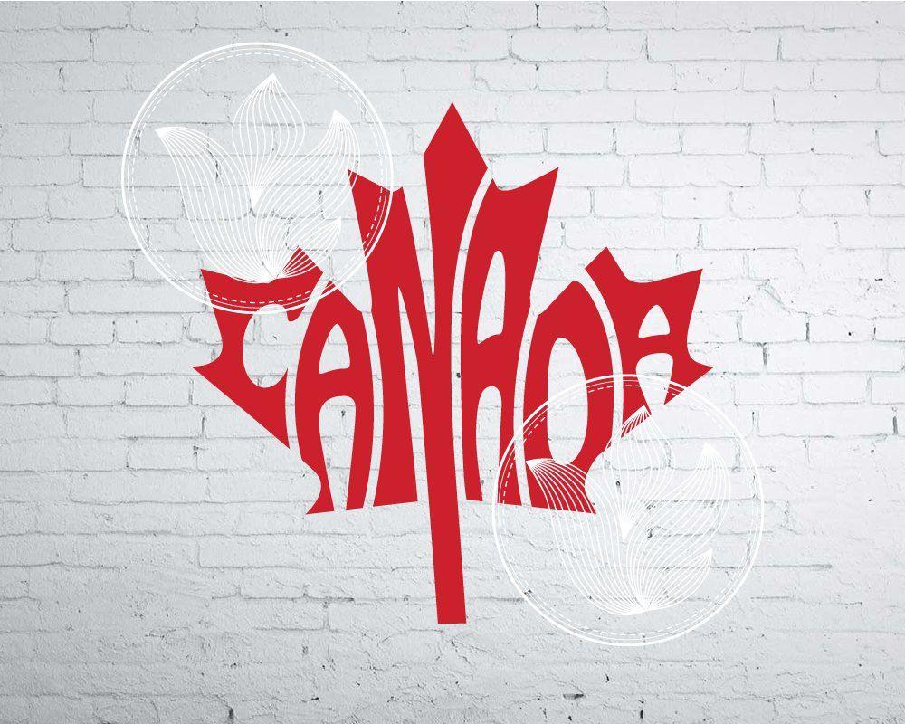 Canada word art canada jpg png eps svg dxf canada