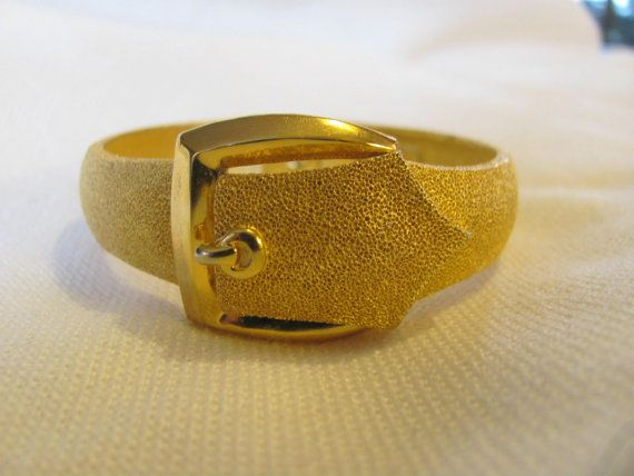 VIntage CROWN TRIFARI Bracelet Buckle by NorthShoreAntiques