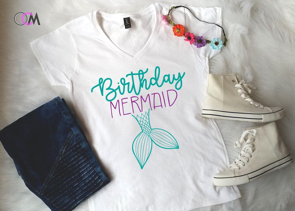 Birthday Mermaid Shirt Girl Youth