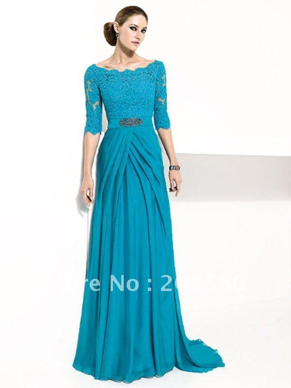 Images of Long Sleeve Long Dresses - Klarosa