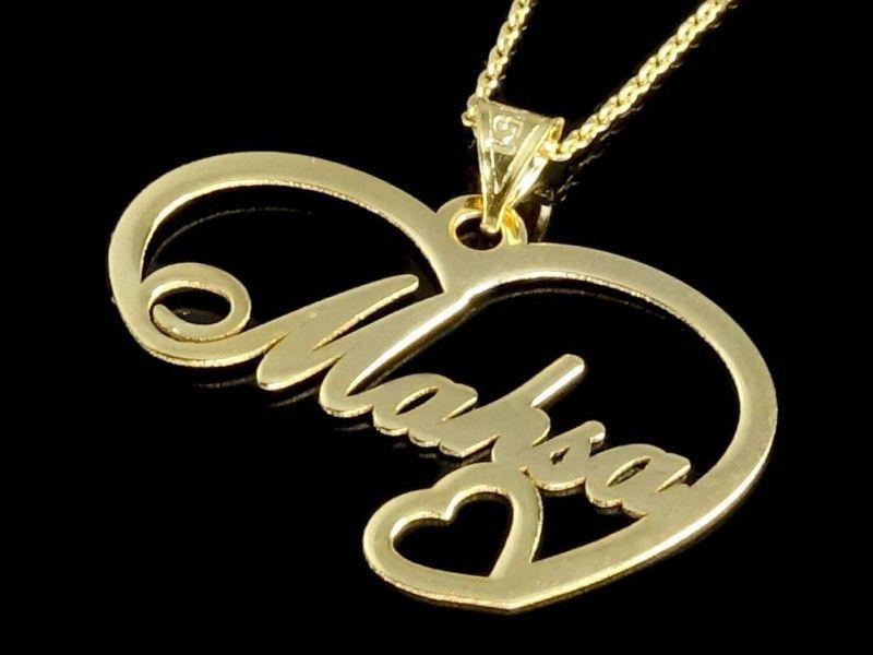 پلاک اسم مهسا Gold Accessories Jewelry Gold Necklace